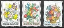 Belgium**FLOWERS BOUQUETS FLEURS-3vals-1980-Bloem-Blume-Flores-MNH