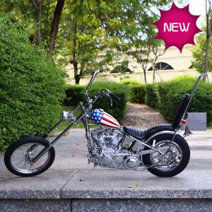 1-4-Easy-Rider-Harley-Davidson-Construit-Moto-Modele-Diecast-Captain-America