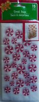 Christmas Cellophane Cookie Bags 15 Count 8.5 X 4.25 W/ Gold Seal Label