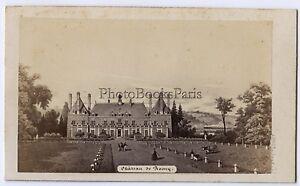 Château Da Ronsy Francia Foto CDV Di Dopo Incisione Vintage Albumina Ca 1860