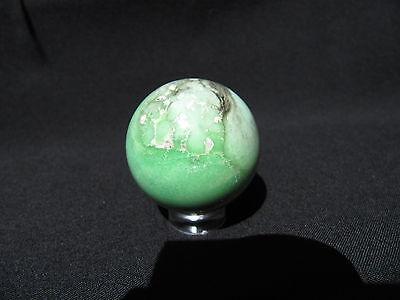 "1.33"" VARISCITE SPHERE NATURAL GREEN GEMSTONE BALL UTAH USA 33.9 mm"