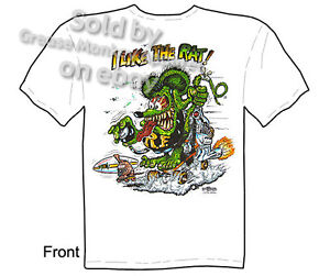Skateboard-Rat-Fink-T-shirt-Clothing-Ed-Roth-I-Like-The-Rat-Tee-M-L-XL-2XL-3XL