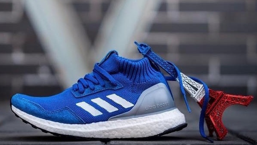 New ADIDAS ULTRA BOOST MID RUN THRU TIME BLUE BY5036 - SIZE 9&9.5