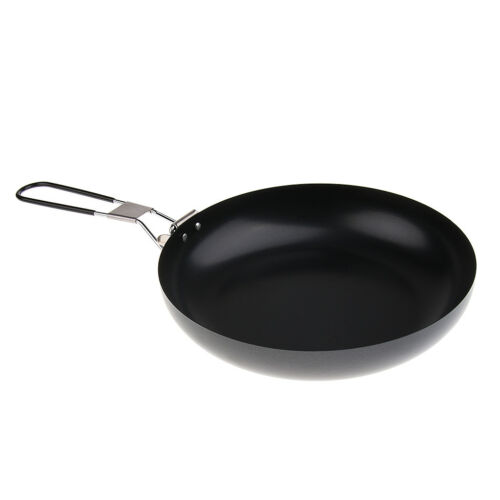 Ultralight Non-Stick Cooking Pot Portable Outdoor Camping Frying Pan 24cm