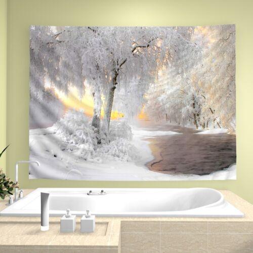 Snow Forest Wandteppich Kunst Wandbehang Tisch Bettdecke Wohnkultur