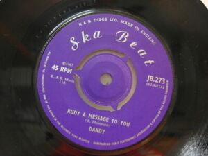 DANDY-RUDY-A-MESSAGE-TO-YOU-7-034-45-VINYL-Rare-1967-Ska-Beat-Rocksteady-Mint