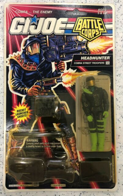 GI Joe Battle Corps Headhunter Figure Cobra Street Troopers Figure #35 MOC