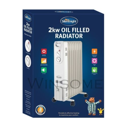 7//9 Fin Portable Oil Filled Radiator Adjustable Thermostat Electric Warm Heater