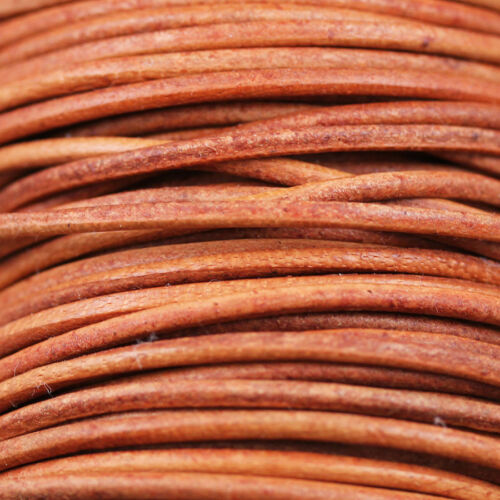 """1yd cut 36/"""" **Pick Your Color **  2mm Indian Round Leather Cords"""