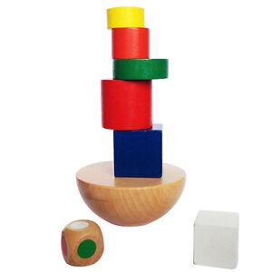 holz balancing spiel holz kinder baby bildungs baukl tze kinder spielzeug ebay. Black Bedroom Furniture Sets. Home Design Ideas