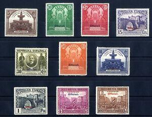 SELLOS-DE-ESPANA-1931-N-620-629-UNIoN-POSTAL-HABILITACIoN-OFICIAL-NUEVO-B1