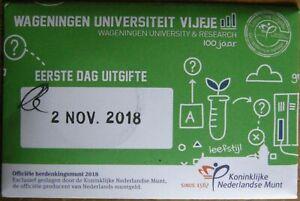 Nederland-5-euro-2018-Wageningen-Universiteit-Vijfje-1e-dag-uitigfte