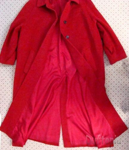 Calvin Klein Womans Red Wool Overcoat sz: 6
