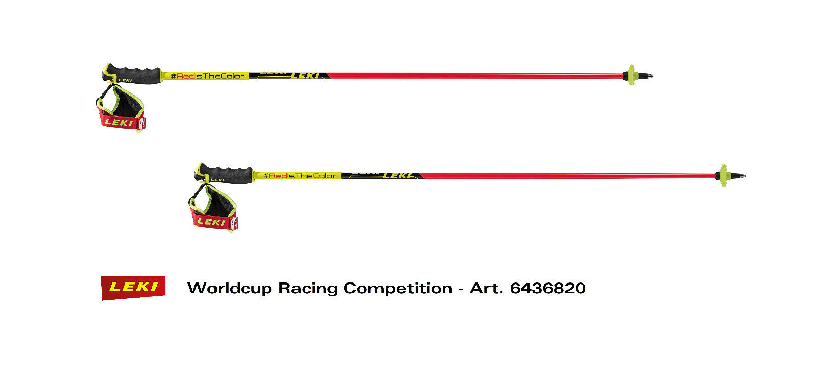 Leki worldcup racing comp 6436820 downhill ski pole  - redisthe color - 125cm  buy cheap