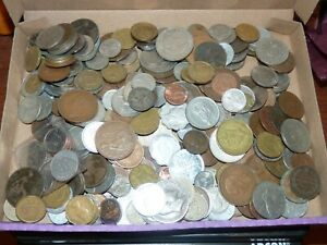 Job lot of 1.5kg of world coins Unsorted (WC10)