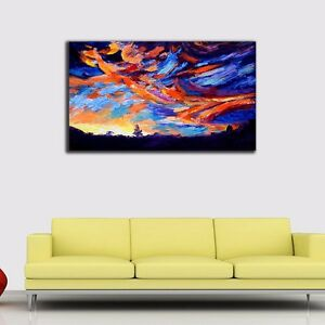 Colorful-Sky-Stretched-Canvas-Prints-Framed-Hanging-Wall-Art-Home-Decor-Painting