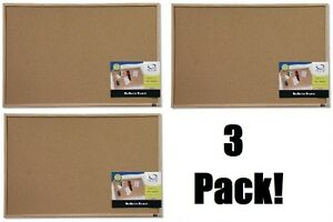 3 Ea Quartet 35 380352 23 X 35 Cork Bulletin Boards With Oak