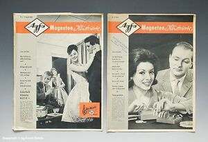 2 Hefte Agfa Magneton Illustrierte um 1960