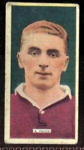 Tobacco-Card-Carreras-POPULAR-FOOTBALLERS-1936-A-Massie-Heart-of-Midlothian-4