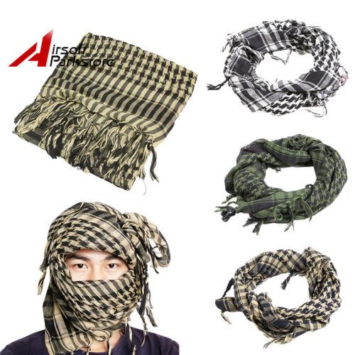 Military Tactical Arab Shemagh KeffIyeh Scarf Veil Mask Army Shawl Head Wrap