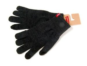 LEVI-039-S-NEW-Men-039-s-Touch-Screen-Gloves-Grey-BNWT