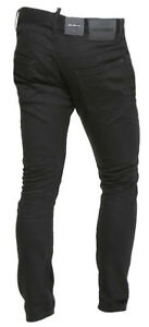 4e0c088a1c Dettagli su DSQUARED2 Pantaloni Uomo Jeans S71LB0376 S30564 Col 900 Nero  Made Italy Cotone