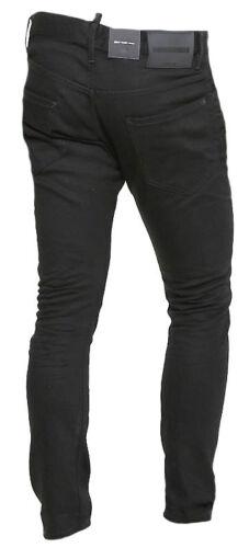 DSQUARED2 Pantaloni Uomo Jeans S71LB0376 S30564 Col 900 Nero Made Italy Cotone