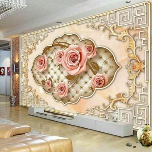 Embossed 3d Wallpaper Background Decor For Living Room Bedroom Wall Papers Cover