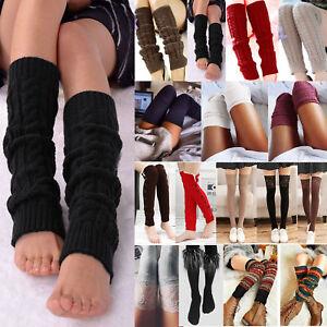 072d75c603e Womens Winter Over Knee Leg Warmers Crochet Knit Thigh High Boots ...