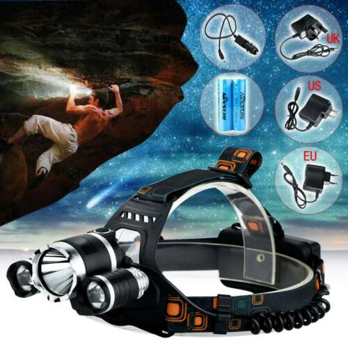 Rechargeable 6000LM 3x T6 LED Headlamp Headlight Head Torch Flash