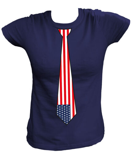 usa us New york Amérique T-shirt Femmes cravate tie united states of America u.s