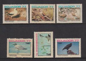 Ecuador - 1977, Birds of Galapagos Islands set - MNH - SG 1686/91