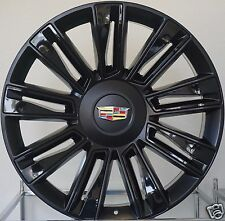 "22"" 2017 Cadillac Escalade Rims Black/ Gloss Inserts Platinum ESV EXT Wheels"