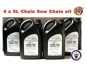 4-x-5L-CHAINSAW-CHAIN-BAR-amp-BLADE-OIL-20-LITRES-for-Stihl-Husqvarna-Makita-Echo