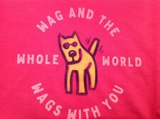 LIFE IS GOOD  Womens Crusher WAG AND THE WHOLE WORLD WAGS X-LARGE Deep Pink NWT