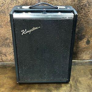 vintage 1960s kingston solid state electric guitar amplifier tested working ebay. Black Bedroom Furniture Sets. Home Design Ideas