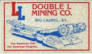 Double-L-Mining-Co-Big-Laurel-KY-Vintage-Unused-Mining-Hard-Hat-Sparkle-Sticker