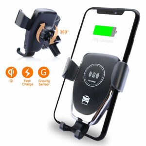 10W QI Wireless Charger Car Mount Holder Stand For Sams