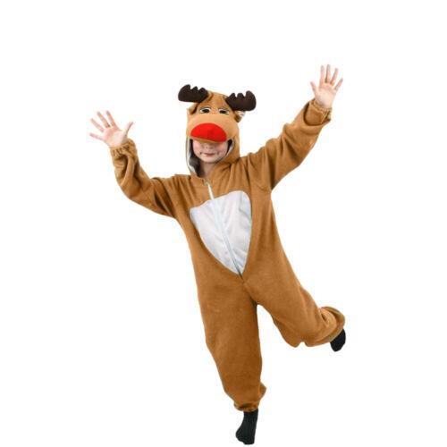 Renne Costume Adulte Enfant Noël Déguisements famille tenue Rudolph Costume