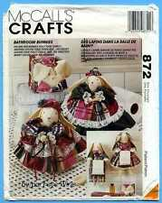 McCall's Crafts 872/ 6874- Bathroom Bunny Sewing Pattern- Tissue Cover Doll