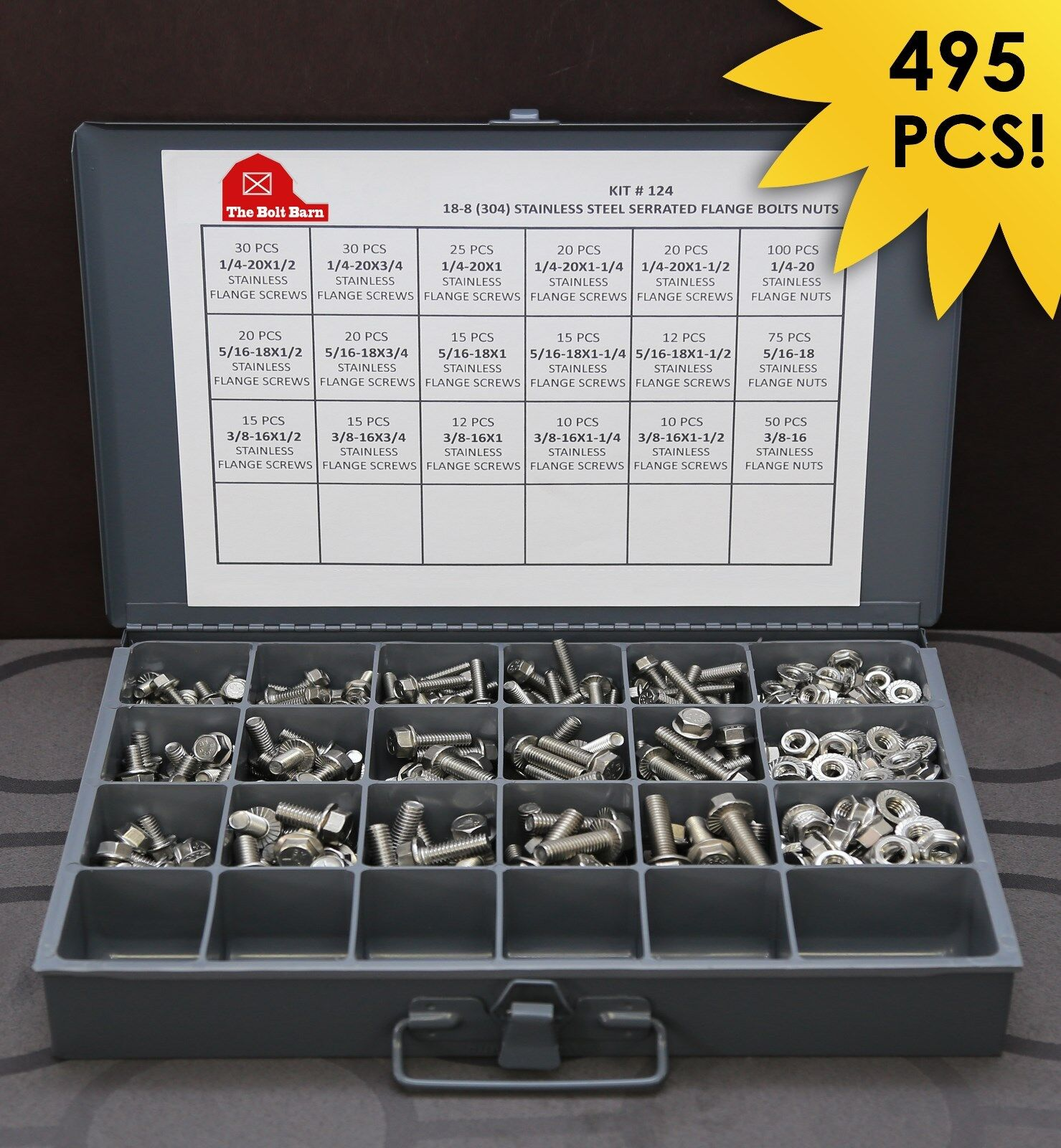 25 1//4-20x1//2 Stainless Steel Hex Serrated Flange Screws Flange Bolts 304