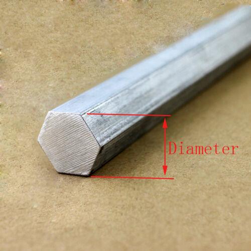 27 mm 6061 Aluminium Hex Tige Solide Bar stock L:100-600mm Sélectionnez Diamètre 17 mm