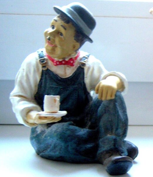 Alte Figur Olio, Oliver Hardy, Komiker Aus Stumfilm, Schauspieler