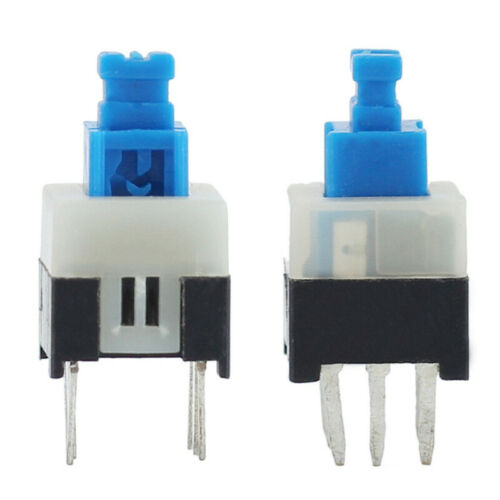6 PINS Hot 40pcs new Verrouillage 7x7mm Mini Tactile Bouton poussoir-interrupteur-ON-OFF DIP