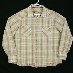bc11f0dab2f Shirt by Atelier Size XXL Men s Long Sleeve Plaid Button Front Brown ...