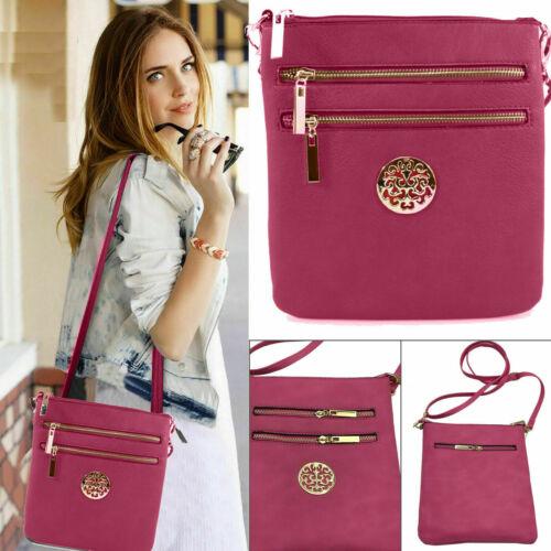 Women Ladies Bag Leather Shoulder Messenger Cross Body Handbag Detachable Zipper
