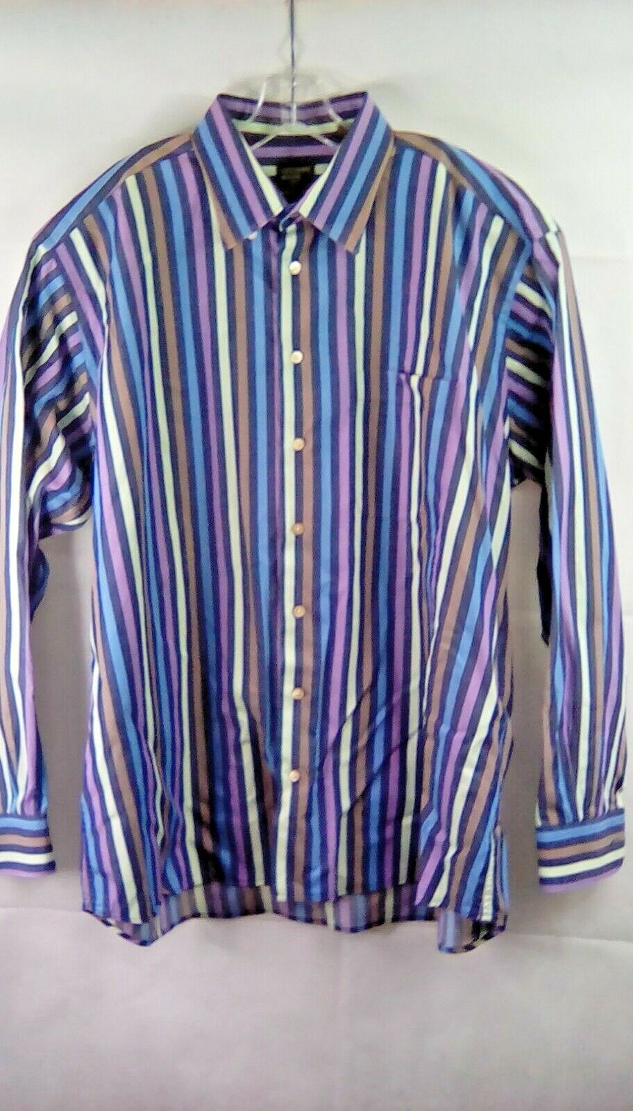 Gitman Bros LS Striped Button Front Shirt Mens Size XL zc325