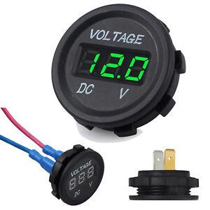 12v 24v Blue Digital LED Panel Voltmeter Voltage Battery Display Waterproof Van