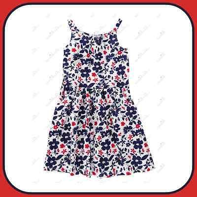 NWT Crazy 8 By Gymboree Stars Stripes Dress Size 6 7 8 10 14  Floral Print Dress