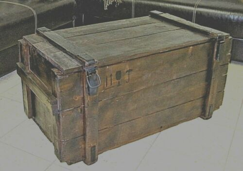 Wein Holzkiste Shabby Chick Vintage Retro Möbel Truhe Beistell Tisch Couchtisch